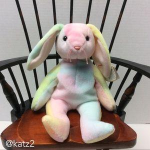 Ty Beanie Babies 1998 Hippie Multi-colored Rabbit